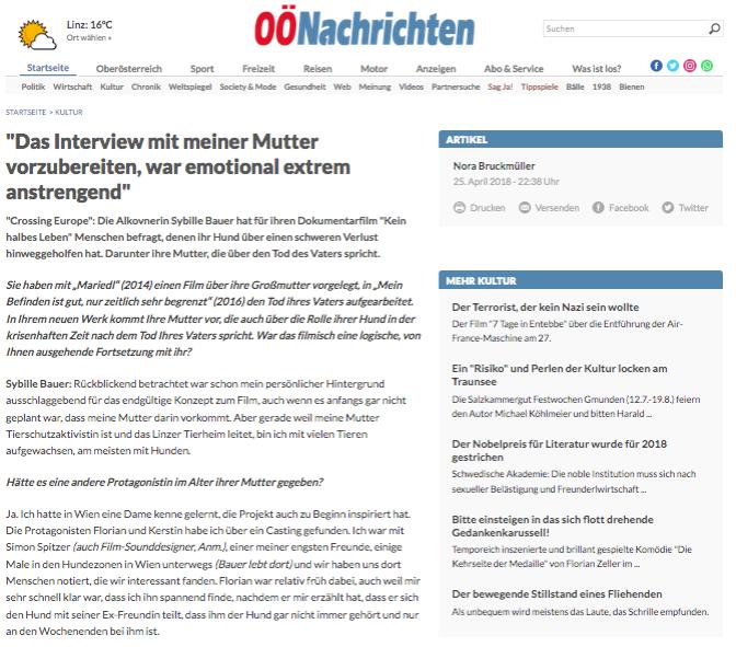 *OÖ Nachrichten Interview 1